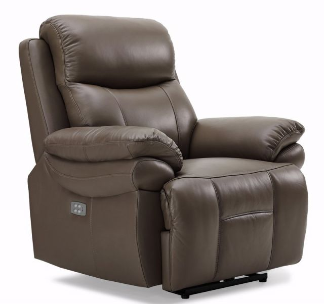 Edgar - Powered Recliner Chair (With Power Headrest) Leather/Bonded