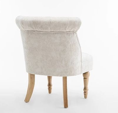 Lichfield - Buttoned Backed Chair Fabric Pearl