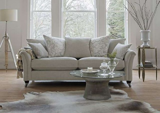 Parker Knoll Devonshire - Grand Sofa - Pillow Back ( Grand @ Large 2 Seater Price) Fabric Options -