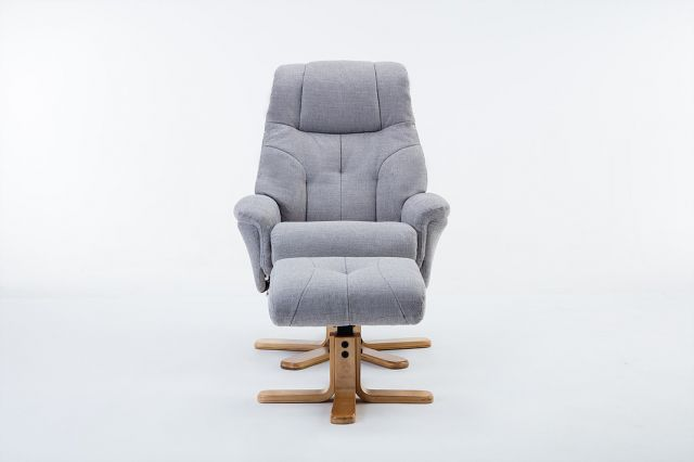 Wexford - Swivel Recliner Chair & Footstool  Fabric - Lisbon Silver