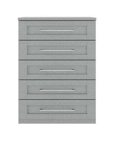 Alpha Dust Grey Modular - 5 Drawer Large Chest (800)