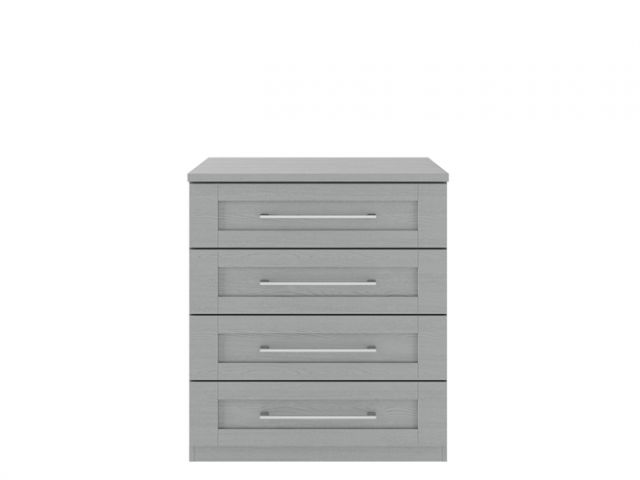 Alpha Dust Grey Modular - 4 Drawer Large Chest (800)