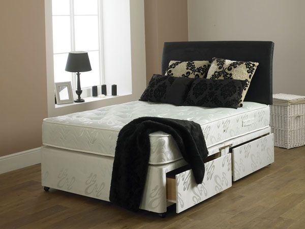 Hercules 1000 90cm 2 Drawer Divan Set Matching Base