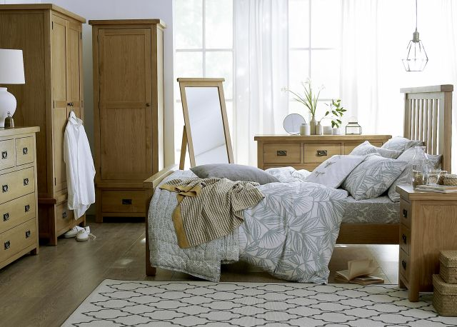 Oakridge Bedroom Collection 3 Drawer Bedside