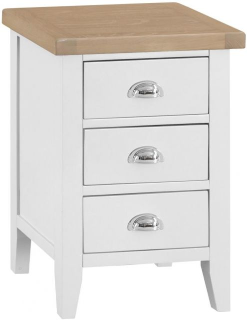 Padstow Large Bedside WHITE