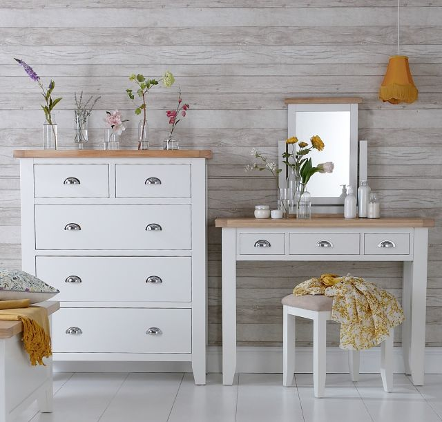 Padstow Blanket Box WHITE