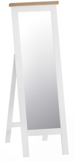 Padstow Cheval Mirror WHITE