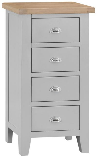 Padstow 4 Drawer Narrow Chest GREY