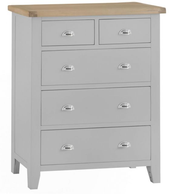 Padstow Jumbo 2 over 3 Chest GREY