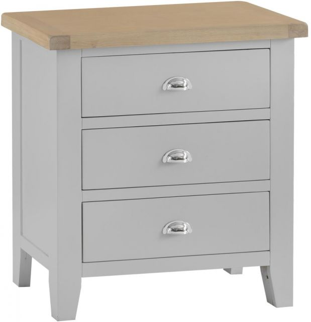 Padstow 3 Drawer Chest GREY