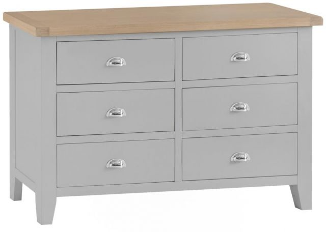 Padstow 6 Drawer Chest GREY