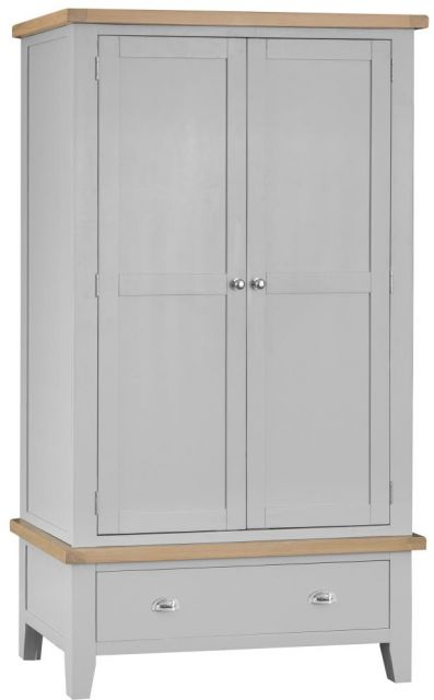 Padstow Large 2 Door Wardrobe GREY