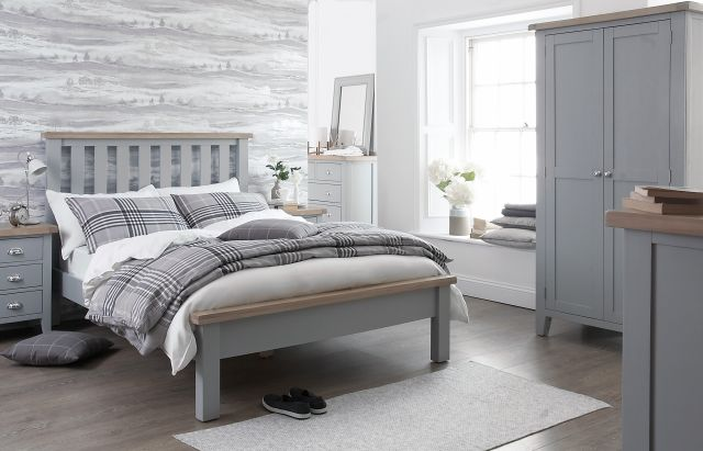 Padstow 4'6 bed GREY