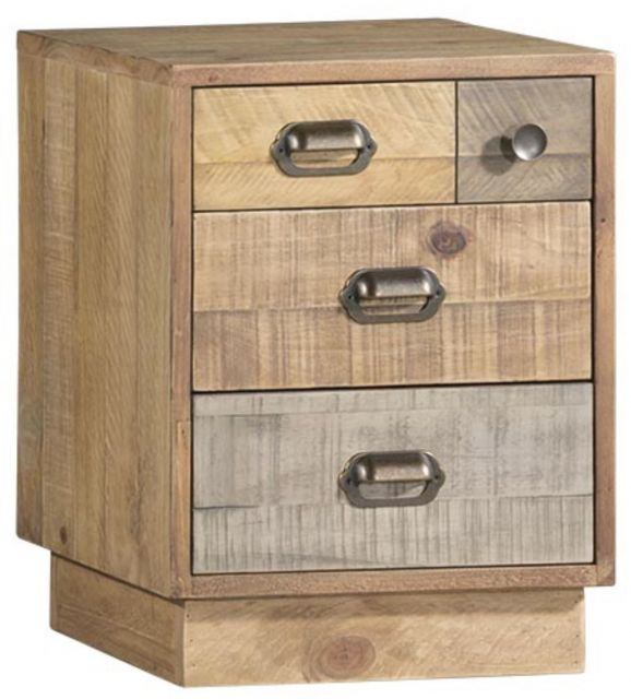 Rustic Bedside Cabinet with Plinth