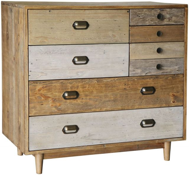 Rustic 7 Drawer Chest with Plinth