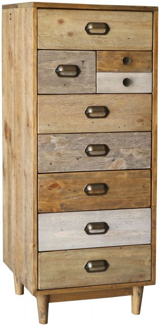 Rustic Tall Wellington Chest with Plinth