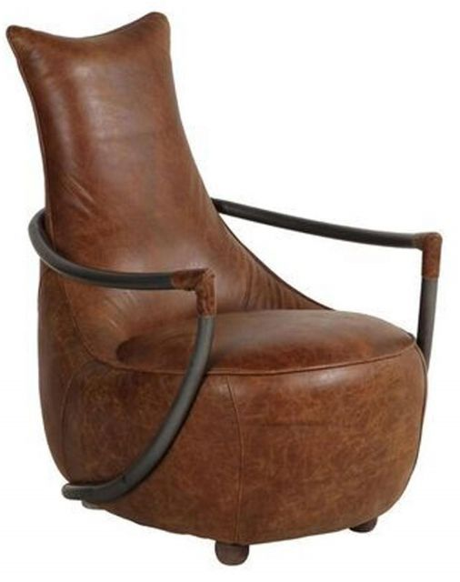 Heritage Collection Maverick Retro Relax Chair - Brown Leather