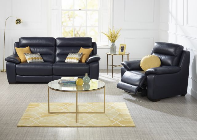 Chicago Collection 2 Seater Sofa With 2 Power Recliners Split Leather