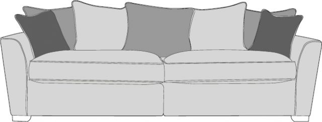 Barcelona Collection 4 Seater Modular Settee  Pillow Back A Range Fabric