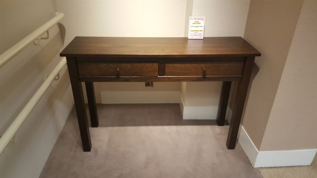 2 Drawer Console Table Dark