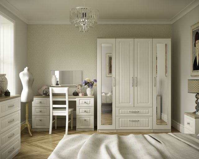 Jakarta Bedroom Collection Double Pedestal Dressing Table