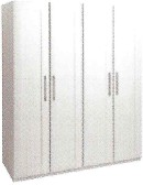 Argent Bedroom Collection Short Height 4 Door Wardrobe