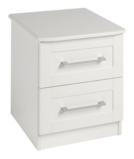 Argent Bedroom Collection 2 Drawer Bedside Chest