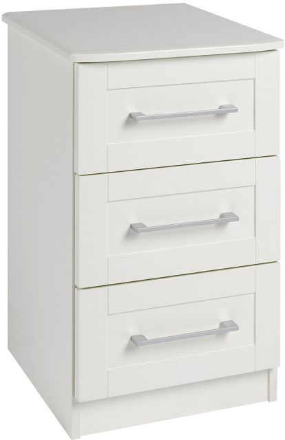 Argent Bedroom Collection 3 Drawer Bedside Chest