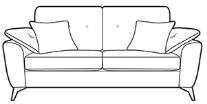 Abbotsford Collection 3 Seater Sofa B