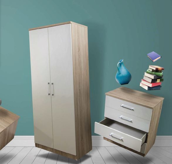 Osaka Bedroom Collection Double Pedestal Dressing Table