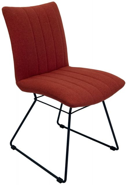Set Of 2 Mila Dining Chair - Burnt Orange