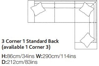 Lemington Collection Corner Settee - 3 Corner 1
