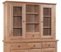 Strasbourg Collection Hutch for 3 Door 3 Drawer Sideboard