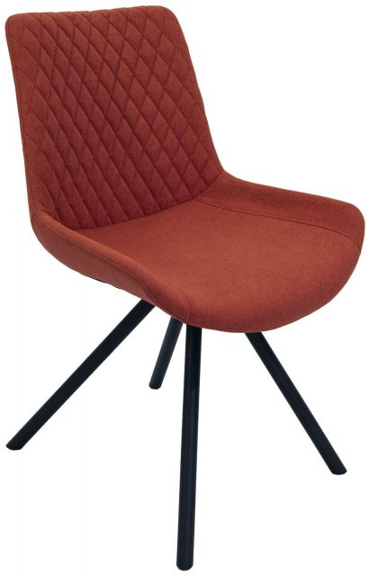 Set Of 2 Piper Dining Chair - Burnt Orange
