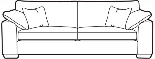 Vancouver Collection Grand Settee (Split into two) H2 Fabric FOAM TOPPER SEAT INTERIORS