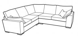 Vancouver Collection Corner Settee - 4 Seat Corner H2 Fabric FOAM TOPPER SEAT INTERIORS