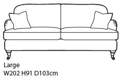 Amesbury Collection Large Sofa House 2 Fabric