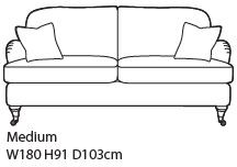 Amesbury Collection Medium Sofa House 2 Fabric