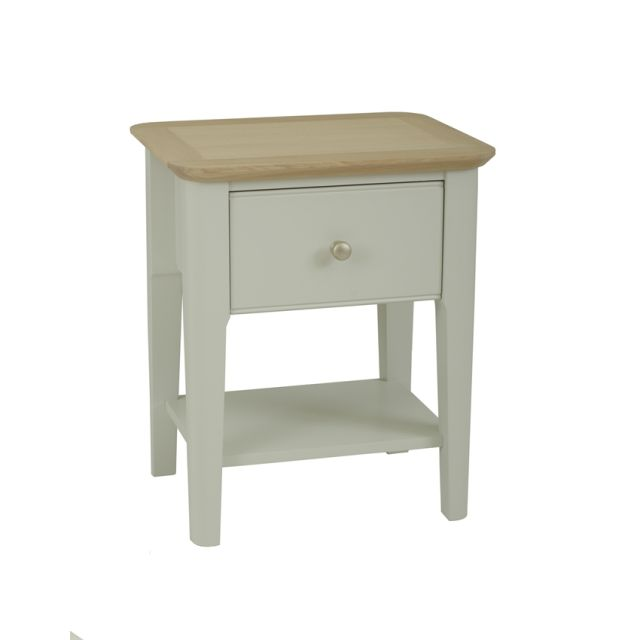 Aria Bedroom Collection Bedside chest 1 drawer Morning Dew/Haze Oil Top