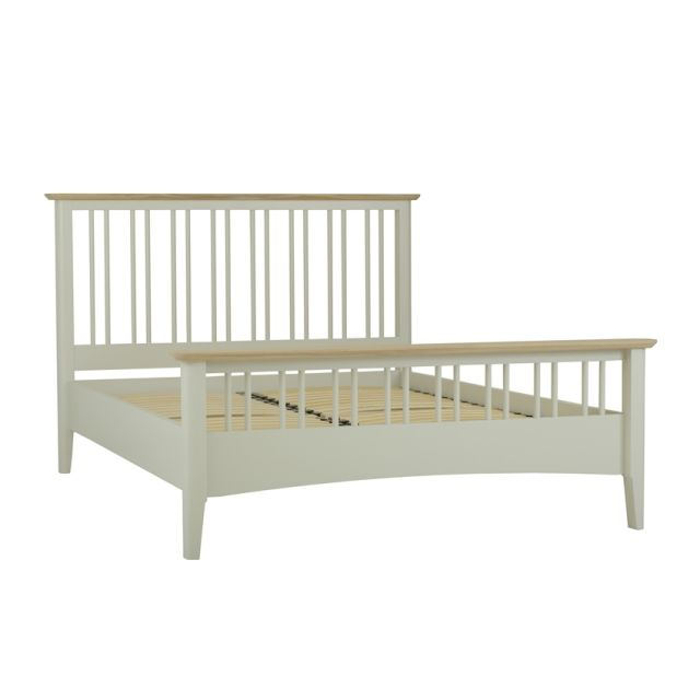 Aria Bedroom Collection Slat bed - King size Morning Dew/Haze Oil Top