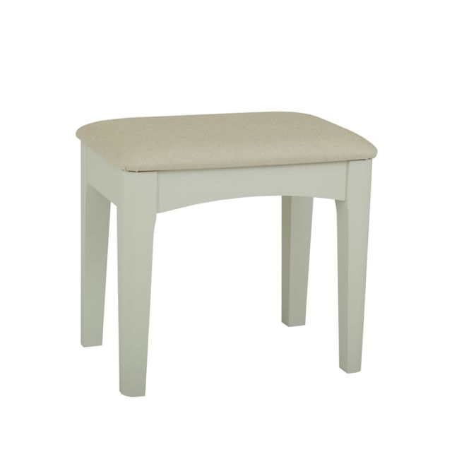 Aria Bedroom Collection Bedroom stool (seat in fabric) Morning Dew/Haze Oil Top