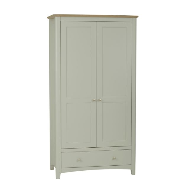 Aria Bedroom Collection Wardrobe 1 drawer Morning Dew/Haze Oil Top