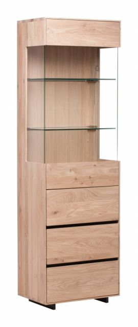 Brommo Cabinet Collection 1+1 Vitrine /Handle Anthracite