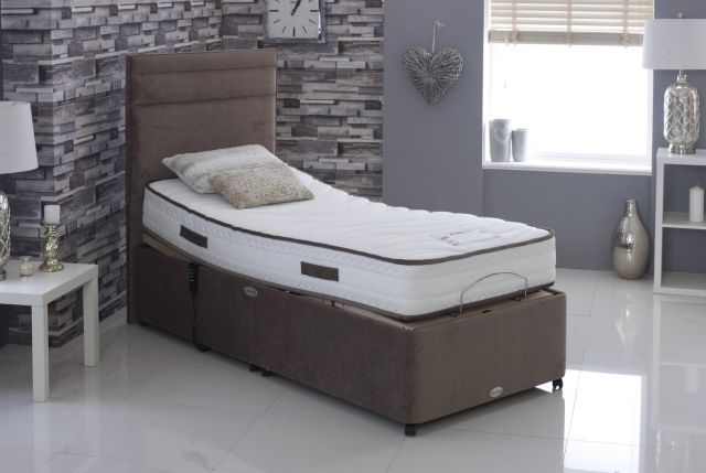 Contourflex Adjustable Bed Collection 75cm Wide x 200cm Long - 2 Drawer Base & Mattress