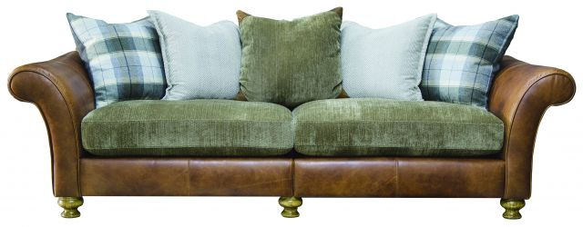 Lawrence 4 Seater Sofa (Split) Grade 1 Leather