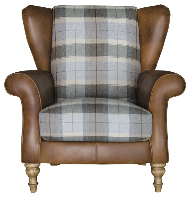 Lawrence Wing Chair Grade 1 Leather