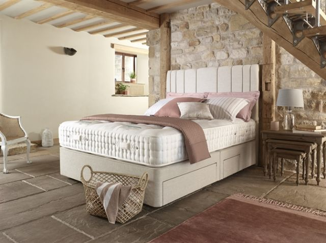 Trebah 16200 90cm True Edge 2500 Shallow Divan Set on Legs