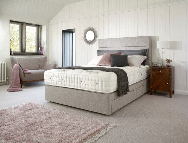 Kew 13200 150cm True Edge 2500 Shallow Divan Set on Legs