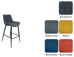 Piper Collection Set Of 2 Piper Barstool - Shadow Grey