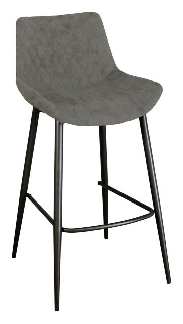 Piper Collection Set Of 2 Piper Barstool - Antique Grey PU